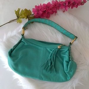{EUC} Teal Great American Leather Works Hand Bag